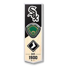 """Officially Licensed MLB 6"""" x 19"""" 3D Stadium Banner - Chicago White Sox"""