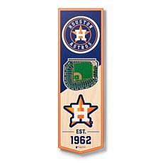 """Officially Licensed MLB 6"""" x 19"""" 3D Stadium Banner - Houston Astros"""