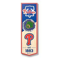 """Officially Licensed MLB 6x19"""" 3D Stadium Banner- Philadelphia Phillies"""