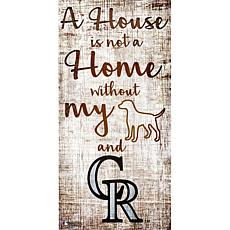 Officially Licensed MLB A House is Not a Home Sign