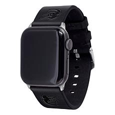 Officially Licensed MLB Apple Watch Black Leather Band 38/40mm-Orioles