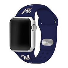 Officially Licensed MLB Apple Watchband 42/44mm - Milwaukee Brewers