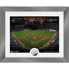 Officially Licensed MLB Art Deco Silver Coin Photo Mint - Baltimore