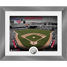 Officially Licensed MLB Art Deco Silver Coin Photo Mint - Cincinnati