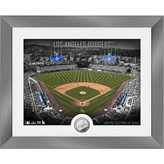 Officially Licensed MLB Art Deco Silver Coin Photo Mint - LA. Dodgers