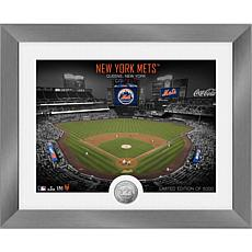 Officially Licensed MLB Art Deco Silver Coin Photo Mint - NY. Mets