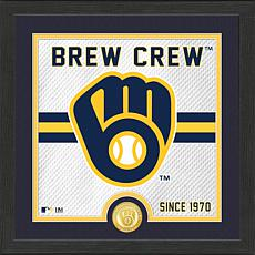 Officially Licensed MLB Battle Cry Bronze Coin Photo Mint - Brewers