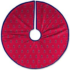 Officially Licensed MLB Christmas Tree Skirt - Los Angeles Angels