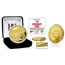 Officially Licensed MLB Cincinnati Reds Stadium Gold Mint Coin