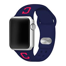 Officially Licensed MLB Cleveland Indians Apple Watchband - 38mm/40mm