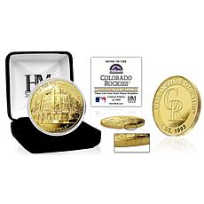 Officially Licensed MLB Colorado Rockies Stadium Gold Mint Coin