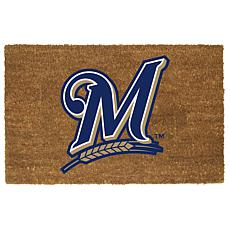 Officially Licensed MLB Colored Logo Door Mat - Brewers