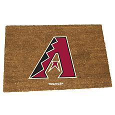 Officially Licensed MLB Colored Logo Door Mat - Diamondbacks