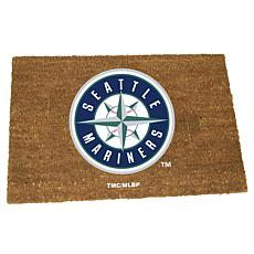 Officially Licensed MLB Colored Logo Door Mat - Mariners