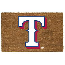 Officially Licensed MLB Colored Logo Door Mat - Rangers