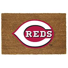 Officially Licensed MLB Colored Logo Door Mat - Reds