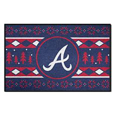 Officially Licensed MLB Holiday Sweater Mat - Atlanta Braves