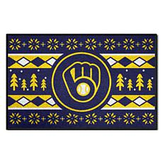 Officially Licensed MLB Holiday Sweater Mat - Milwaukee Brewers