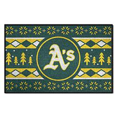 Officially Licensed MLB Holiday Sweater Mat - Oakland Athletics