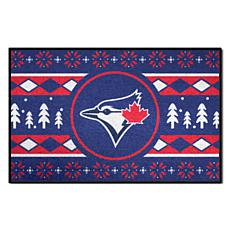 Officially Licensed MLB Holiday Sweater Mat - Toronto Blue Jays
