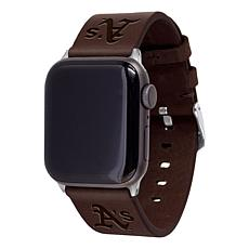 Officially Licensed MLB Leather Band for Apple Watch 42/44mm-Oakland