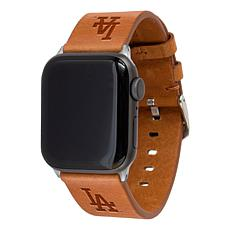 Officially Licensed MLB Leather Band for Apple Watch - LA. Dodgers