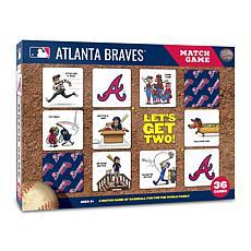 Officially Licensed MLB Licensed Memory Match Game - Atlanta Braves