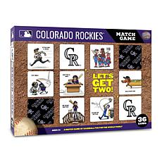 Officially Licensed MLB Licensed Memory Match Game - Colorado Rockies