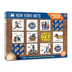 Officially Licensed MLB Licensed Memory Match Game - New York Mets