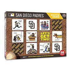 Officially Licensed MLB Licensed Memory Match Game - San Diego Padres