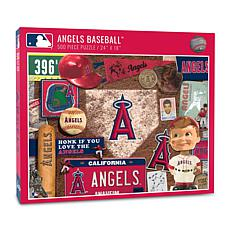 Officially Licensed MLB Los Angeles Angels Retro 500-Piece Puzzle