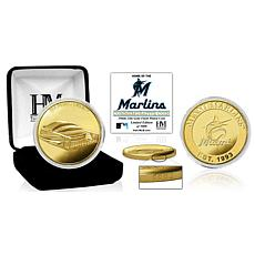Officially Licensed MLB Miami Marlins Stadium Gold Mint Coin