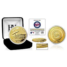 Officially Licensed MLB Minnesota Twins Stadium Gold Mint Coin