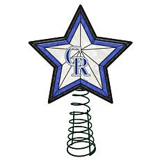 Officially Licensed MLB Mosaic Tree Topper - Rockies
