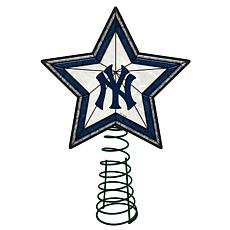 Officially Licensed MLB Mosaic Tree Topper - Yankees