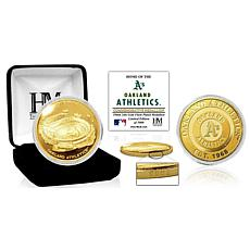 Officially Licensed MLB Oakland A's Stadium Gold Mint Coin