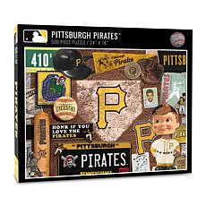 Officially Licensed MLB Pittsburgh Pirates Retro 500-Piece Puzzle