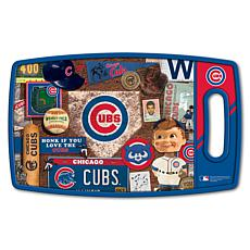Officially Licensed MLB Retro Series Cutting Board - Chicago Cubs