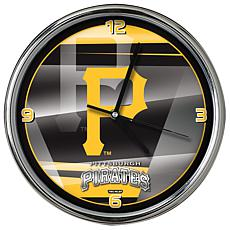 Officially Licensed MLB Shadow Chrome Clock - Pirates
