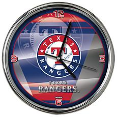 Officially Licensed MLB Shadow Chrome Clock - Rangers