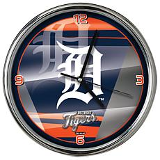 Officially Licensed MLB Shadow Chrome Clock - Tigers
