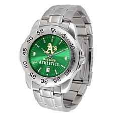 Officially Licensed MLB Sport Steel Series Watch - Oakland Athletics