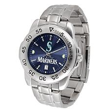 Officially Licensed MLB Sport Steel Series Watch - Seattle Mariners