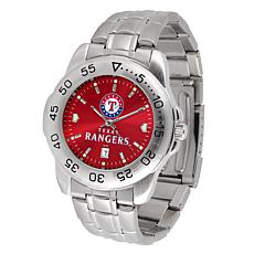 Officially Licensed MLB Sport Steel Series Watch - Texas Rangers
