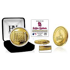 Officially Licensed MLB St. Louis Cardinals Stadium Gold Mint Coin