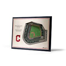 Officially Licensed MLB StadiumView 3D Wall Art - Cleveland Indians