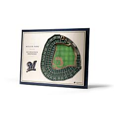 Officially Licensed MLB StadiumViews 3D Wall Art - Milwaukee Brewers