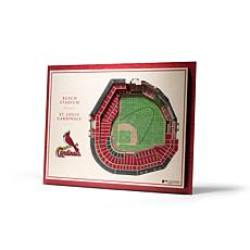 Officially Licensed MLB StadiumViews 3D Wall Art - St. Louis Cardinals