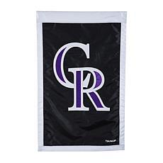 Officially Licensed MLB Team Logo House Flag - Colorado Rockies