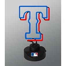 Officially Licensed MLB Team Logo Neon Lamp - Texas Rangers
